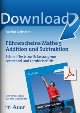 Führerscheine Mathe 5 Addition und Subtraktion