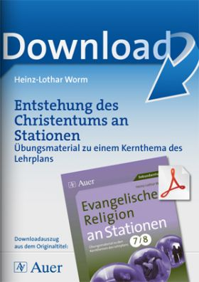 Ev. Religion an Stationen 7-8: Entstehung des Christentums