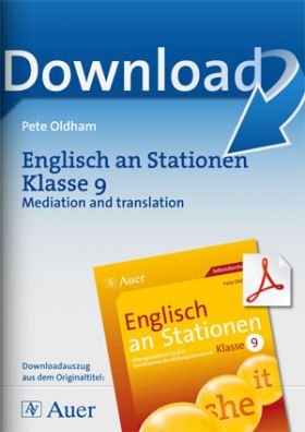 Englisch an Stationen Klasse 9 - Mediation and translation