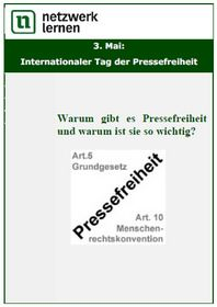 3. Mai: Internationaler Tag der Pressefreiheit