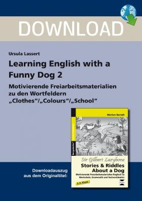 Wortfelder: Clothes / Colours / School - Learning English With a Funny Dog 2