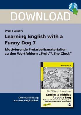 Wortfelder: Fruit /  Clock - Learning English With a Funny Dog 7