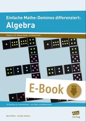 Einfache Mathe-Dominos differenziert: 33 Dominos zur Algebra