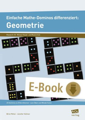 Einfache Mathe-Dominos differenziert: 25 Dominos zur Geometrie