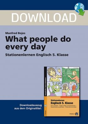 What people do every day - Stationenlernen Englisch Klasse 5