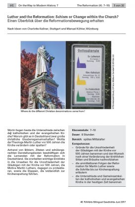 Einen Überblick über die Reformationsbewegung erhalten - Luther and the Reformation: Schism or Change within the Church?