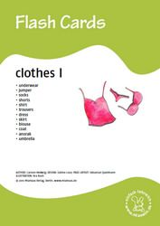 Bildkarten: Clothes 1