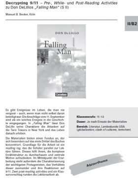 Decrypting 9/11 - Pre-, While- und Post-Reading Activities zu Don De Lillos Falling Man