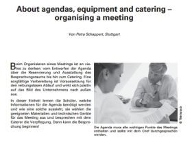 About agendas, equipment and catering - organising a meeting