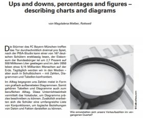 Ups and downs, percentages and figures describing charts and diagrams
