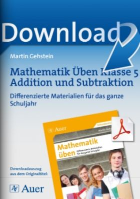 Mathematik üben Kl. 5 Addition und Subtraktion