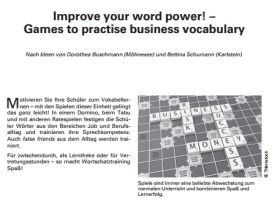 Improve your word power! - Games to practise business vocabulary
