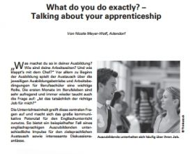 What do you do exactly? - Talking about your apprenticeship