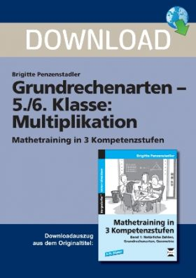 Mathetraining in 3 Kompetenzstufen - Multiplikation (5./6. Klasse)