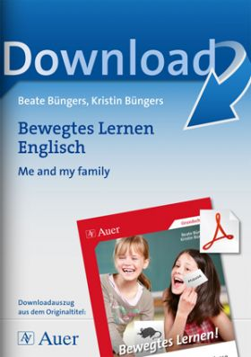Bewegtes Lernen Englisch: Me and my family