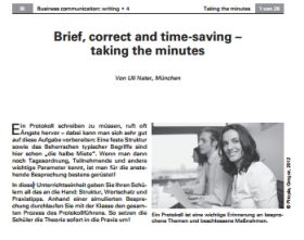 Brief, correct and time-saving - taking the minutes
