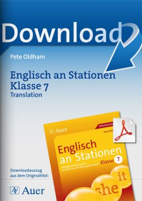 Englisch an Stationen Klasse 7 - Translation