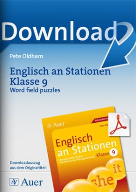 Englisch an Stationen Klasse 9 - Word field puzzles