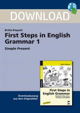First Steps in English Grammar 1