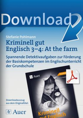 Kriminell gut Englisch Klasse 3-4: At the farm