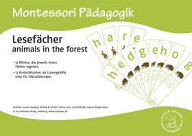 Lesefächer: animals in the forest