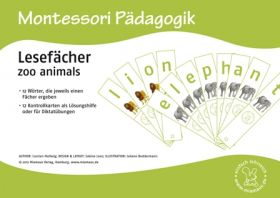 Lesefächer: zoo animals