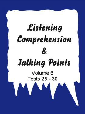 Listening comprehension und Talking points - Vol. 6 (Tests)
