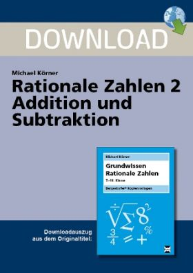 Rationale Zahlen 2 - Addition und Subtraktion
