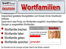 Smartboard Deutsch - Wortfamilien