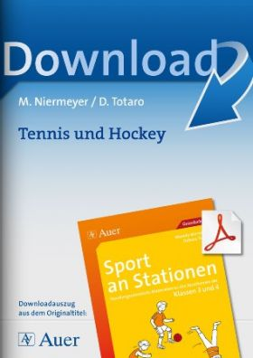 Tennis und Hockey  - Sport an Stationen 3/4