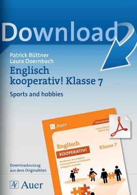 Sports and hobbies - Englisch kooperativ Klasse 7