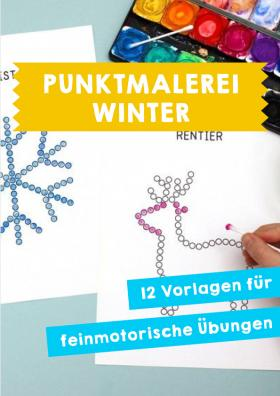 Winter: Punktmalerei