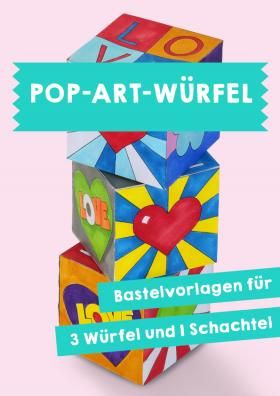 Würfel - Pop-Art