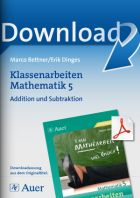 Addition und Subtraktion  - Klassenarbeiten Mathematik 5
