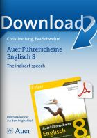 The indirect speech - Auer Führerscheine Englisch Klasse 8