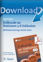 Erdkunde an Stationen 5/6 Inklusion: Methodentraining - Karten lesen