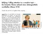 Bullying: Calling attention to a sensitive topic. Ein brisantes Thema anhand eines Zeitungsartikels erschließen