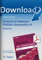 Wortarten Grammatik  - Deutsch an Stationen  Kl. 7/8