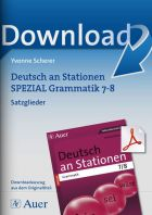 Satzglieder  - Deutsch an Stationen  Kl. 7/8