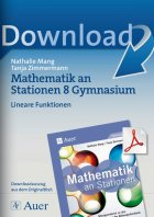 Lineare Funktionen  - Mathe an Stationen Gymnasium Kl. 8