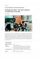 Underage Stasi Spies - the Stasi's influence on adolescents in the GDR
