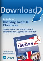 Birthday, Easter and Christmas - differenzierte Logicals Englisch Kl. 5-6