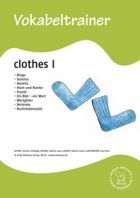 Vokabeltrainer: Clothes 1