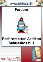 Fordern - Rechenraketen Addition Subtraktion Kl.1