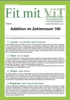 Addition im Zahlenraum 100 - Vielfachtests