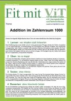 Addition im Zahlenraum 1000 - Vielfachtests