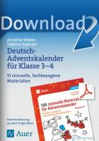 Deutsch-Adventskalender für Klasse 3-4