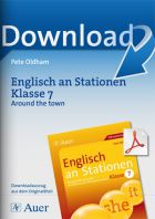 Englisch an Stationen Klasse 7 - Around the town