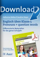 Englisch üben Klasse 5: Pronouns + question words