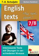 English texts - The next, please (7./8. Klasse)